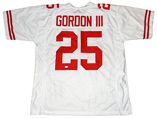 MELVIN GORDON AUTOGRAPHED SIGNED WISCONSIN BADGERS  25 WHITE JERSEY JSA  Melvin Gordon memorabilia. W 539a420c7