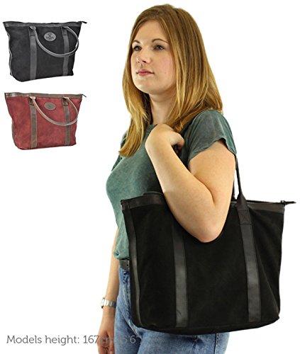 Shopper Gusti Leder studio Farina Ledertasche Henkeltasche Damen Handtasche Damentasche Echt Leder Weinrot 2M60-29-21
