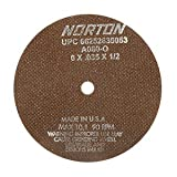 PART NO. NOR38811 Norton A60-OBNA2 Type 01 Toolroom Cut-Off Wheel, 7 x 1/16 x 5/8'', Aluminum Oxide