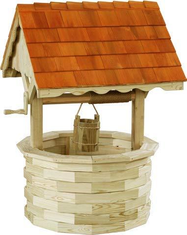 (LuxCraft Garden 6' Wishing Well with Cedar Roof)
