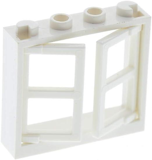 2 Stück F # Lego Fenster 1x4x3 weiß Klappfenster 60594