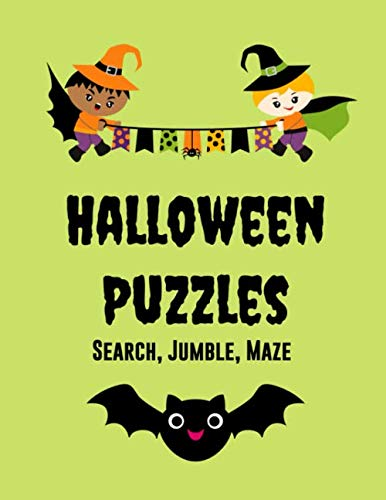 Witch Costumes Sketch - Halloween Puzzles: Word Searches, Jumbles, Mazes,