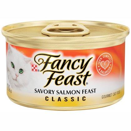 Fancy Feast Classic Savory Salmon Feast Canned Cat Food