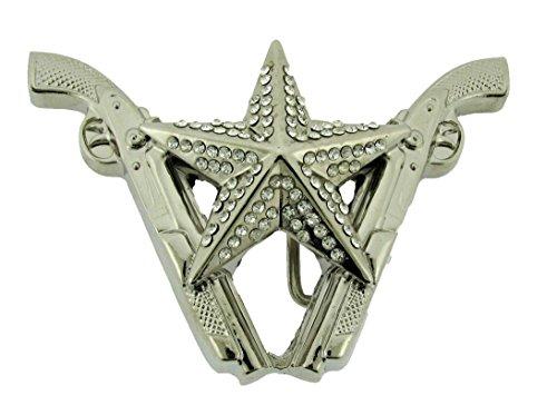 Star Belt Buckle Rhinestone Sheriff Texas Cowboy Girly Cowgirl Western Rodeo New (Rhinestone Guns Celtic Size 4.50