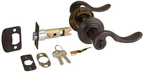 Kwikset 740ADL 11P SMT CP K4 Ashfield Entry Lever Featuring Smartkey, Venetian Bronze