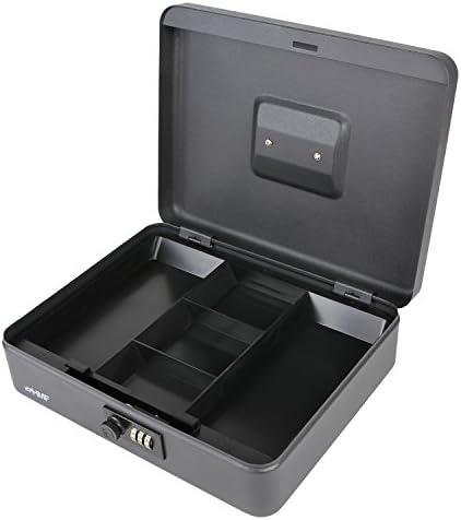 HMF 10017-02 Caja de caudales, cerradura de combinación 30 x 24 x 9 cm, negro: Amazon.es: Bricolaje y herramientas