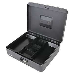 HMF 10017-02 Caja de caudales, cerradura de combinación 30 x 24 x 9 cm , negro