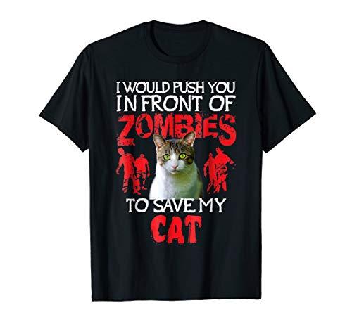 Kitty Cat Lovers T-Shirt - Zombie Halloween Costume Idea -