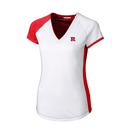 (CBUK NCAA Rutgers Scarlet Knights Women's Short Sleeve Presley V-Neck Tee Shirt, 3X-Large, Red )
