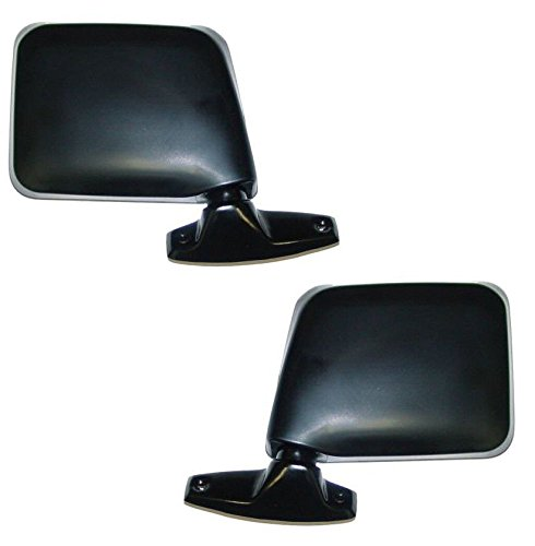 84 Ford Ranger Mirror (1983-92 Ford Ranger, 1984-90 Bronco II, 1991-1994 Explorer & 1985-1991 Ford F150, F250, F350 Pickup Truck Manual Black Folding (Paddle Type) Door Mount Rear View Mirror Pair Set: Right Passenger)