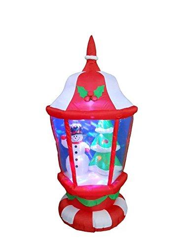 Farol de Navidad con muñecos de nieve y árbol de Navidad inflable ...
