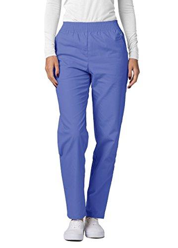Adar Universal Classic Comfort Natural-Rise Tapered Leg Scrub Pants - 502 - Ceil Blue - - Apparel Clothing Classic