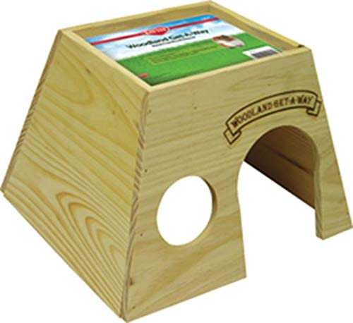Kaytee Woodland Get-A-Way Large Guinea Pig House (Animal Small Hideaway)