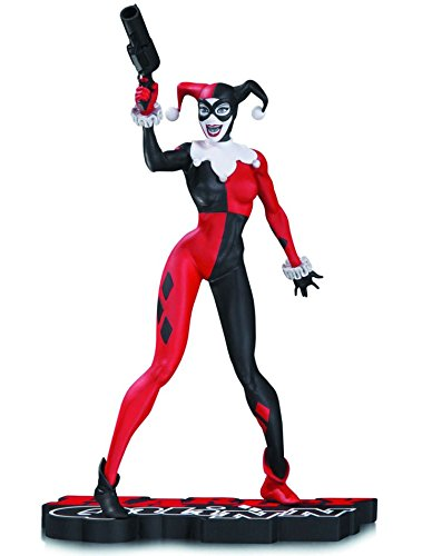 DC Collectibles Harley Quinn Harley Quinn Statue, Red/White/Black]()