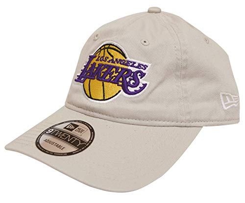 New Era Los Angeles Lakers Cotton Slouch Adjustable Strapback Hat ()
