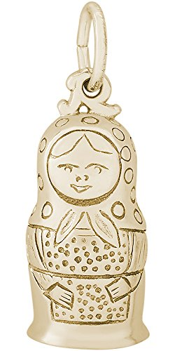Rembrandt Charms, Matryoshka, 14K Yellow Gold by Rembrandt Charms