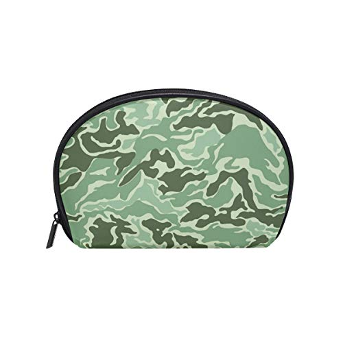 Geometric Clipart - Anna Cowper Red Geometric Patterns Camo Clipart Green Half Moon Cosmetic Makeup Toiletry Bag Travel Handy Organizer Pouch for Women Girls