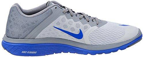Nike FS LITE RUN 2 Zapatillas para Correr Running Negro Rojo para Hombre WOLF GREY RACER BLUECOOL GREY