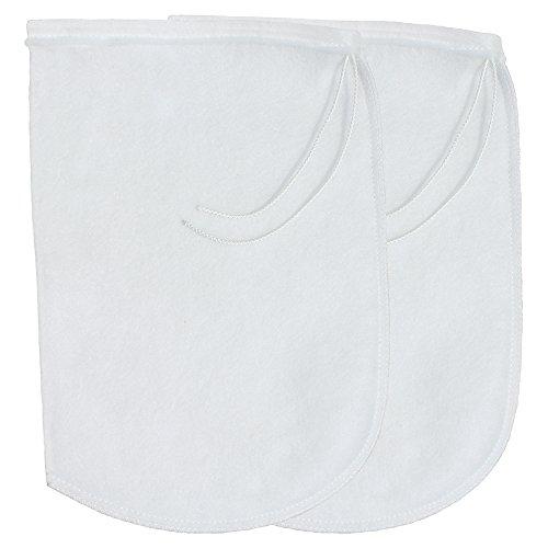 Micron Felt - Aquatic Experts XL DRAWSTRING Aquarium Filter Socks 200 Micron - 7 Inch WIDE Opening x 16 inches LONG - 2 pack - Premium Aquarium Felt Filter Bags- Custom Made In The USA For