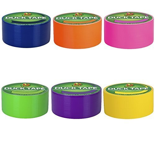 Duck Brand Duct Tape Multi-Color 6 Pack, Bright Colors (Pink, Yellow, Orange, Blue, Purple, -