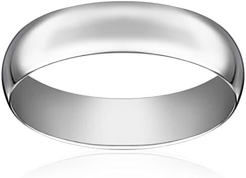 Light Comfort Fit Platinum Gold Wedding Band, 6mm