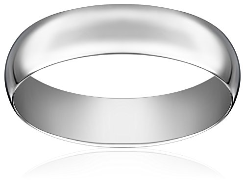 Light Comfort Fit Platinum Gold Band, 6mm, Size 10.5 by Amazon Collection