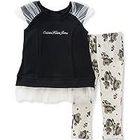 Calvin Klein Girls' 2 Pieces Tunic Pant Set-Tulle