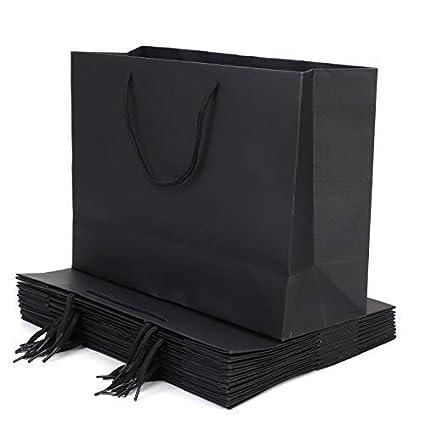 10 bolsas de papel Kraft bolsas de regalo portátil ...