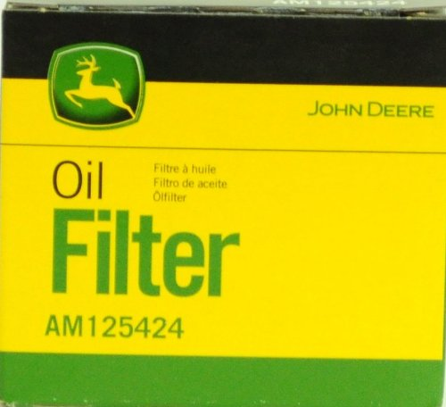John Deere Original Equipment Oil Filter #AM125424 (Qty 4) (John Deere 125 Lawn Tractor Oil Filter)