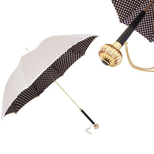 Pasotti Polka Dot Jeweled Handle Umbrella by Pasotti