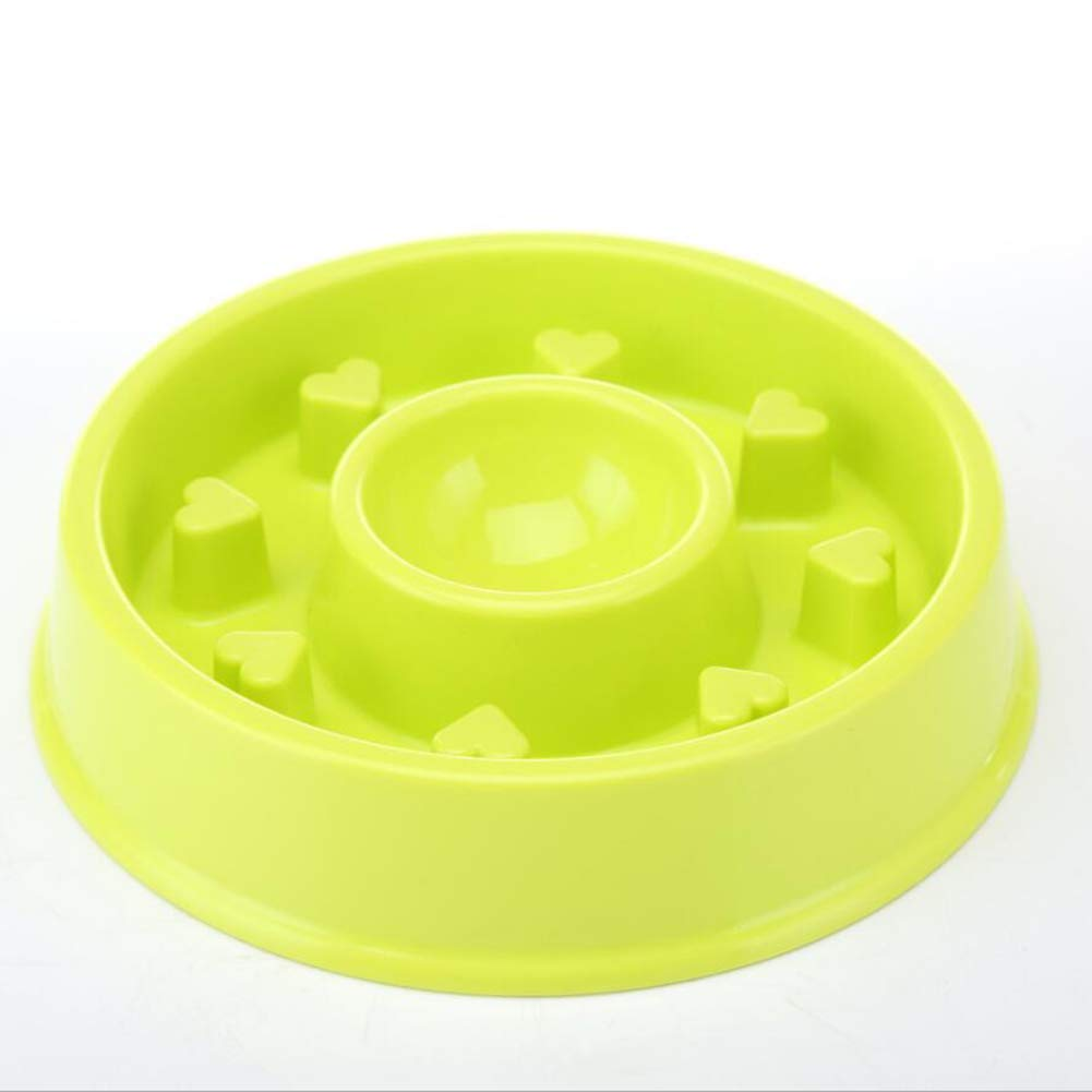 Green Slow Down Feed Dog Cat Feeding Bowl Slow Feeder Dog Bowl Slow Eating Dog Bowl bluee Pink Green,Green