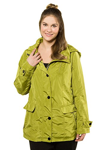 715103 Trendy Snap Jacket Ulla Popken Size Green Lime Front Plus Women's qgxwaw7Z8