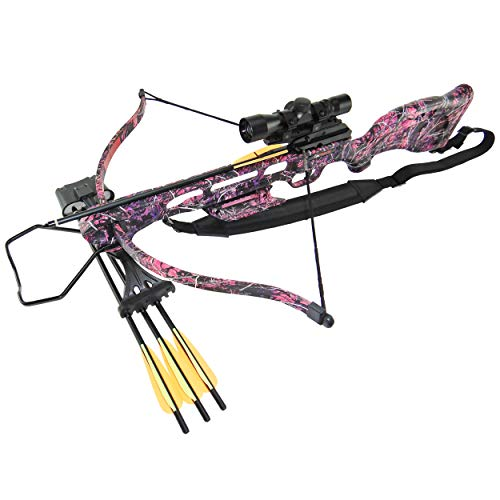 SA Sports Empire Muddy Girl Fever Pro Crossbow Package, 175 Pound Draw, 235 Feet per -