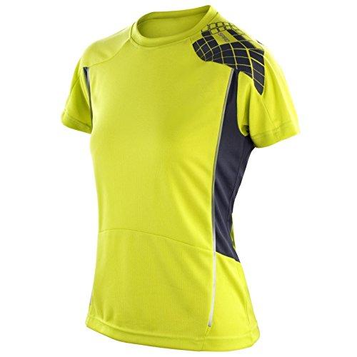 Spiro Mesdames T-shirt d'entraînement s176F Néon Vert citron/gris Taille M