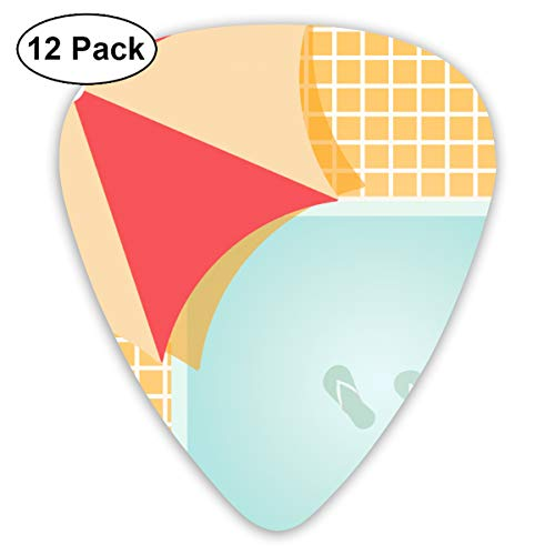 Love Swimming Exercises Pool Swimmer Exquisite Shell Surface Guitar Pick-12 Pieces of Packaging General Purpose