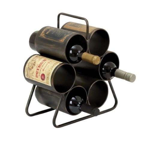 Deco 79 Metal Wine Rack, 12 by 14-Inch