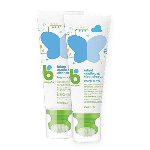 Babyganics Infant Cradle Cap Cleansing Oil, , 3oz, 2 pack, Packaging May Vary