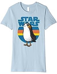 Last Jedi Porg Retro Stripes Logo Premium T-Shirt