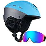 Ski Helmet with Visor Snow Helmet and Goggles Set SKL Kids Youth Unisex Adult Sport Ski Snowboard Snowmobile Helmet with Snow Goggles