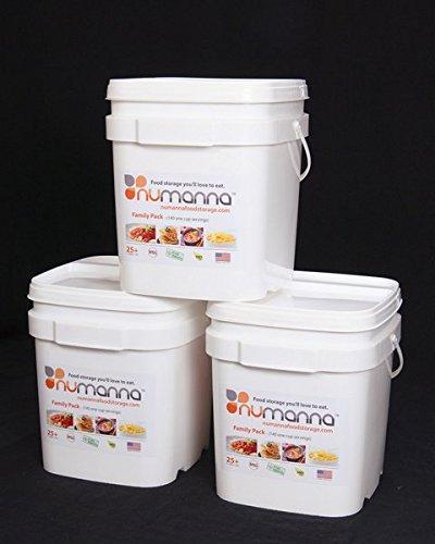 NuManna Triple Family Pack Long Term Storage Food by NuManna