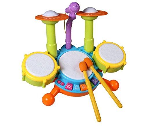 Topwon Upgrade Version - Kids Electronic Toy Drum Set wit...