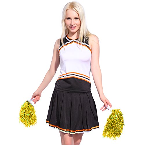 [Iron on PRINT BY SELF BLANK CHEER GIRL 2 pcs Cheerleader Costume Outfit] (Cheerleader Outfit For Girls)