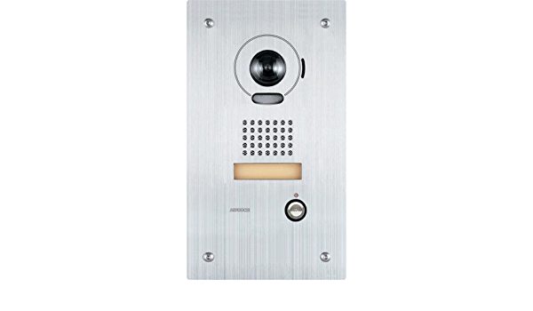 Aiphone Corporation is-DVF Video Door Station for is Series Stainless Steel 10-7//16 x 5-15//16 x 1-5//8 Local Hardwired Video Intercom