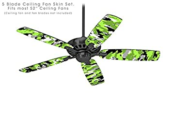 Wraptorcamo digital camo neon green ceiling fan skin kit fits most wraptorcamo digital camo neon green ceiling fan skin kit fits most 52 inch fans aloadofball Choice Image