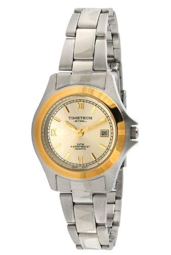 Timetech Steel 3601L Women's Round Two-Tone Bracelet Watch