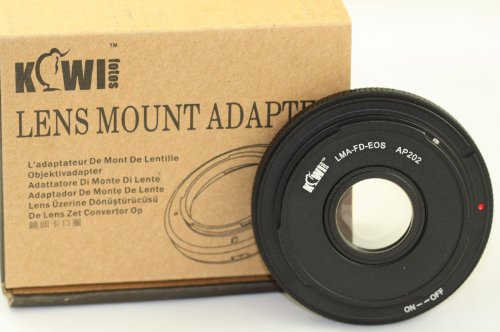 Adapter FD to Canon EOS Camera to use FD Lenses on Canon EOS Cameras T5I T4I 70D 60D T5 T3 1D
