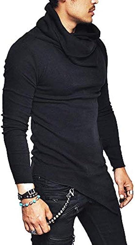 Męska bluza z wysokim kołnierzem sweter Slim Fit koszula wygodna rozmiary wiosna jesień długi rękaw normalny lakier gÓrne części topy odzież: Odzież