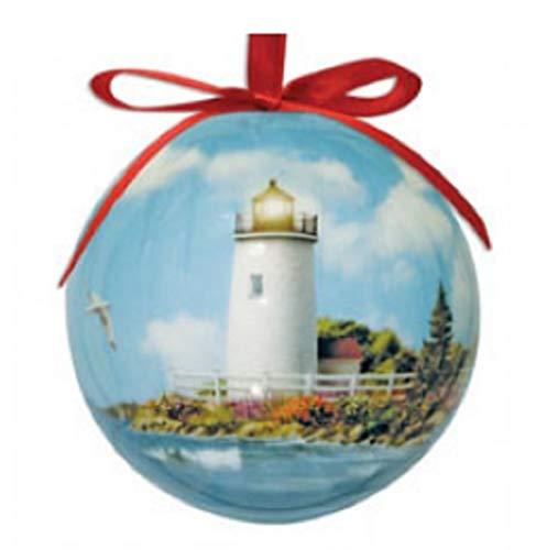 Cape Shore Sunlit Shores Lighthouse High Gloss Resin Hanging Ornament