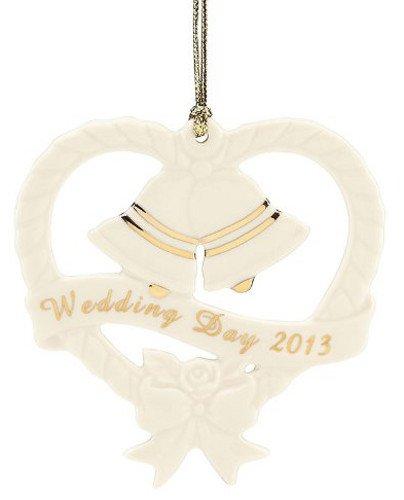 Lenox 2013 Wedding Bells Ornament Porcelain Wedding Bell