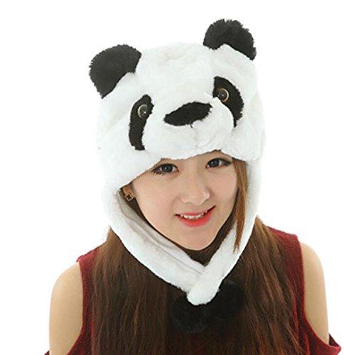 Goodscene Party decoration accessories Cute Cartoon Performance Headwear Plush Animal Headgear (Panda) by Goodscene